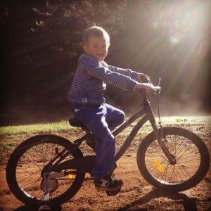 Sunny on bike
